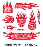 flame emblem set | Shutterstock .eps vector #185187767