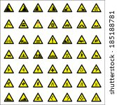 road warning signs  vector | Shutterstock .eps vector #185188781