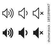 volume icon design vector... | Shutterstock .eps vector #1851898447