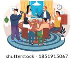 friends playing funny game... | Shutterstock .eps vector #1851915067