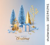 christmas and new year... | Shutterstock .eps vector #1851941941