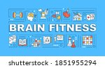 brain fitness word concepts...