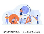 tiny teachers with educational... | Shutterstock .eps vector #1851956131