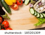 close up of various vegetables... | Shutterstock . vector #185201309