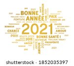 greeting words around new year... | Shutterstock .eps vector #1852035397