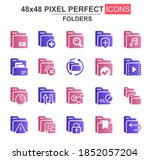 folders glyph icon set. add ...