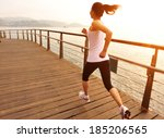 healthy lifestyle sports woman... | Shutterstock . vector #185206565