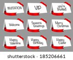 vector illustration of gift... | Shutterstock .eps vector #185206661