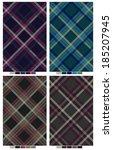 modern plaid fabric pattern. | Shutterstock .eps vector #185207945
