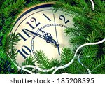 Image Clock With Christmas And...