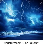 Lightning Flashes Across The...