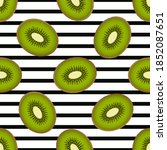 cute kiwi seamless pattern on a ...   Shutterstock .eps vector #1852087651