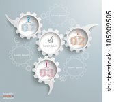 speech bubble gears on the grey ... | Shutterstock .eps vector #185209505