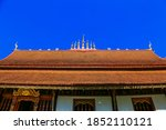 Orange Temple Roof With...