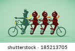 tandem of professional | Shutterstock .eps vector #185213705