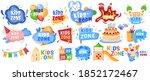 kid zone playground or children ... | Shutterstock .eps vector #1852172467
