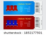 cinema ticket  red and blue... | Shutterstock .eps vector #1852177501