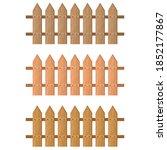 garden furniture wooden fence.... | Shutterstock .eps vector #1852177867