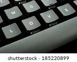 keyboard with alphabets... | Shutterstock . vector #185220899