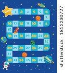 space board game vector...   Shutterstock .eps vector #1852230727