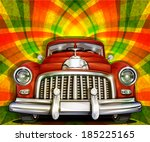 retro car on bright background | Shutterstock .eps vector #185225165