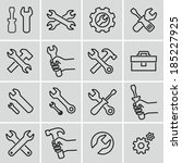 tools icons. strokes not... | Shutterstock .eps vector #185227925