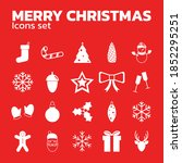 christmas icon set.  vector... | Shutterstock .eps vector #1852295251