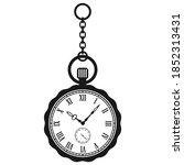 antique pocket watch vector...   Shutterstock .eps vector #1852313431