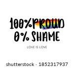 hundred percent proud zero... | Shutterstock .eps vector #1852317937