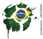 football   soccer   brazil   ... | Shutterstock .eps vector #185236064