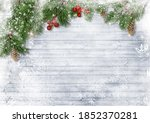 Christmas Decorations On White...
