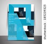 cmyk business corporate flyer... | Shutterstock .eps vector #185239325
