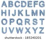 smoke alphabet on white...   Shutterstock . vector #185240201