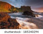 dunluce castle | Shutterstock . vector #185240294