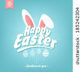 happy easter typographical... | Shutterstock .eps vector #185242304