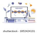 biology vector concept  dna... | Shutterstock .eps vector #1852424131