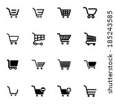 vector black  shopping cart ...
