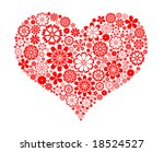 flower heart | Shutterstock .eps vector #18524527