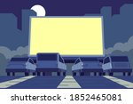 drive in movie theater... | Shutterstock .eps vector #1852465081