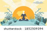 spiritual therapy for body and... | Shutterstock .eps vector #1852509394