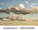 Panorama Of Beautiful Cloudy...