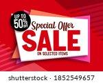 sale special offer vector... | Shutterstock .eps vector #1852549657