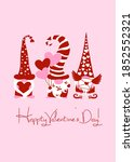 happy valentines day greeting... | Shutterstock .eps vector #1852552321