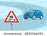 Winter Season Car Driving. Suv...