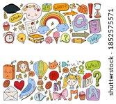 back to school. vector...   Shutterstock .eps vector #1852575571