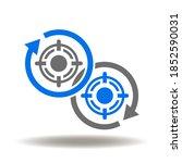 priorities logo. round arrow...   Shutterstock .eps vector #1852590031