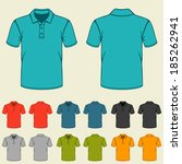set of templates colored polo... | Shutterstock .eps vector #185262941