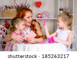 mother with daughters | Shutterstock . vector #185263217