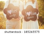 sweet wedding details on the... | Shutterstock . vector #185265575