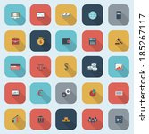 trendy simple finance icons set ... | Shutterstock . vector #185267117